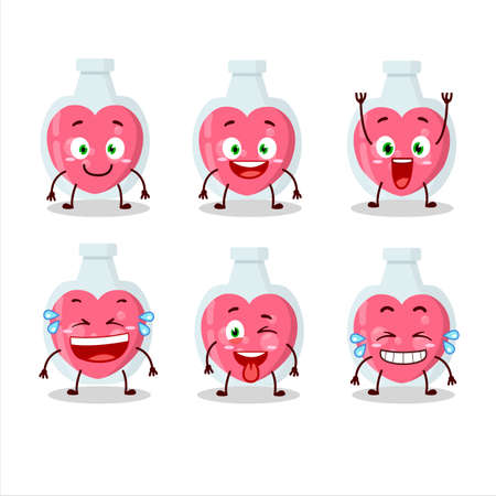 Cartoon character of love potion with smile expression