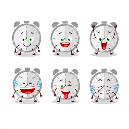 Cartoon character of alarm clock with smile expression