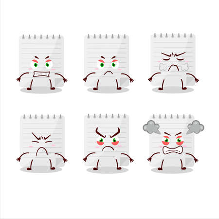 Sticky notes cartoon character with various angry expressions