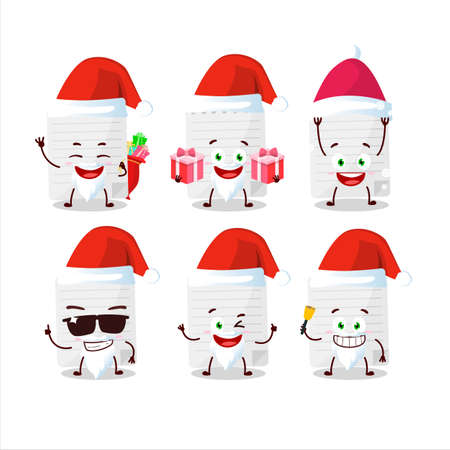 Santa Claus emoticons with sticky notes cartoon character