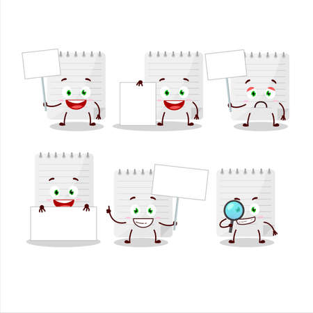 Sticky notes cartoon character bring information board Stock Illustratie