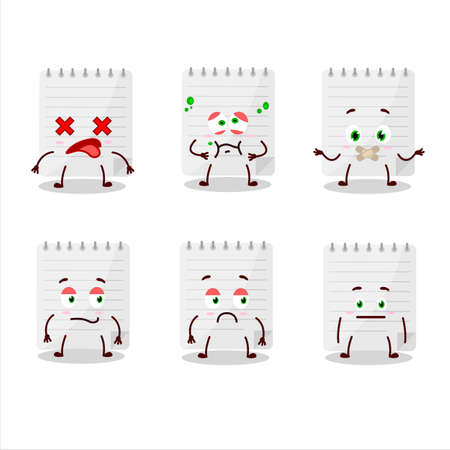 Sticky notes cartoon character with nope expression