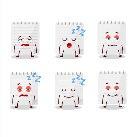 Cartoon character of sticky notes with sleepy expression Stock Illustratie