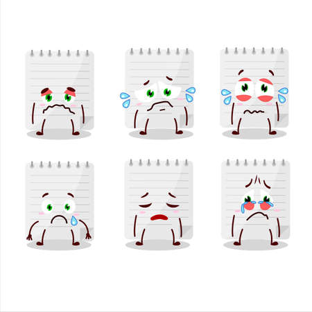 Sticky notes cartoon character with sad expression