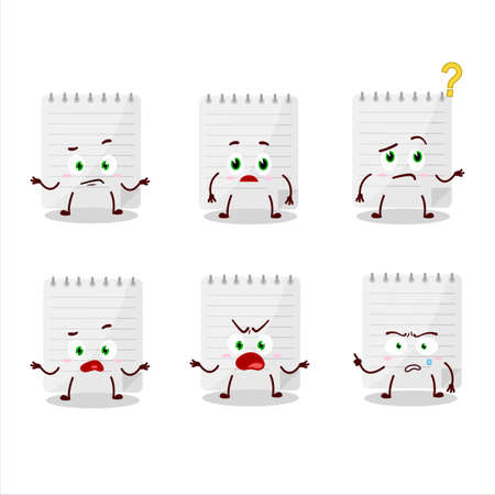 Cartoon character of sticky notes with what expression