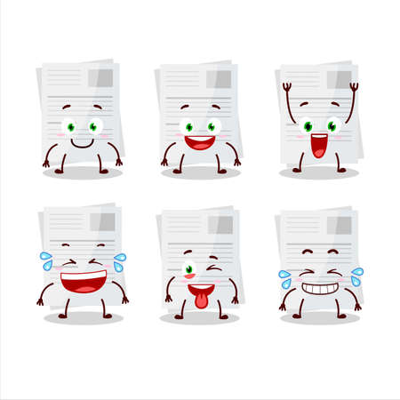 Cartoon character of essay paper with smile expression