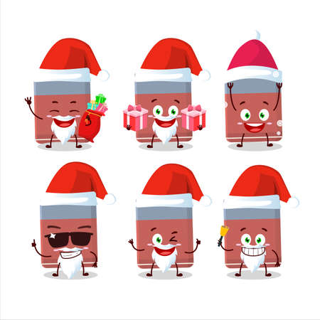 Santa Claus emoticons with eraser cartoon character