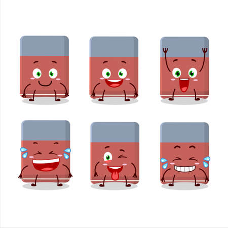 Cartoon character of eraser with smile expression