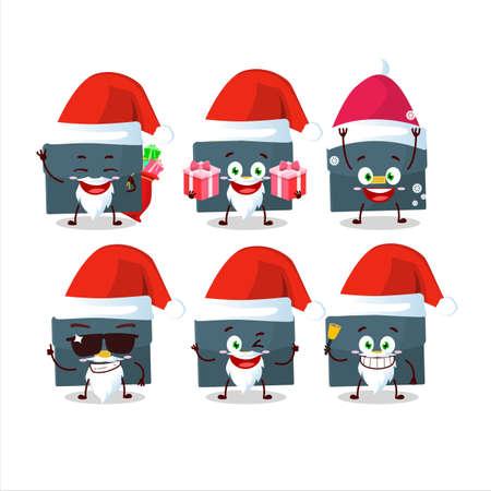 Santa Claus emoticons with briefcase cartoon character