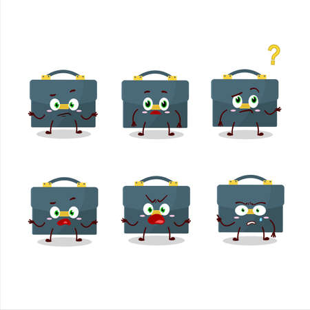 Cartoon character of briefcase with what expression