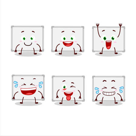Cartoon character of whiteboard with smile expression