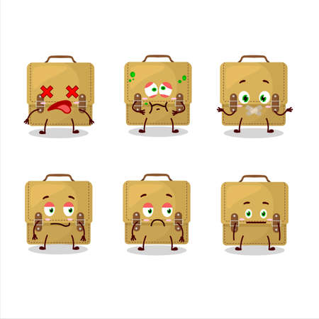 Sling bag school cartoon in character with nope expression