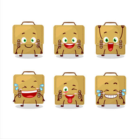 Cartoon character of sling bag school with smile expression Иллюстрация