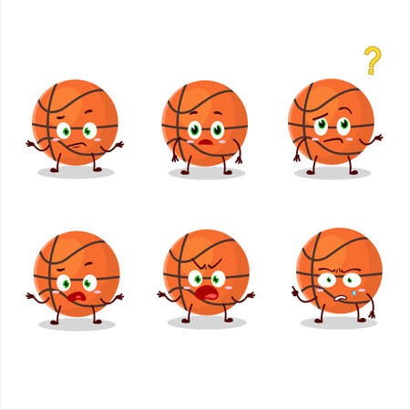 Cartoon character of basketball with what expression