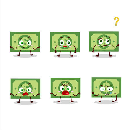 Cartoon character of money with what expression 向量圖像