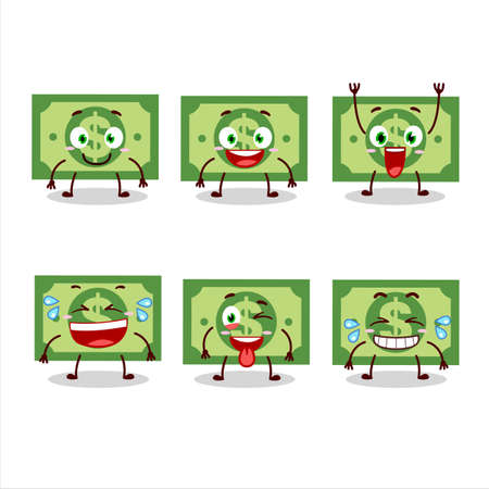 Cartoon character of money with smile expression