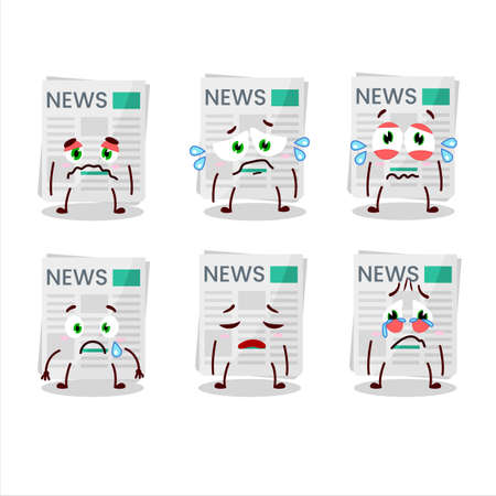 newspaper cartoon in character with sad expression