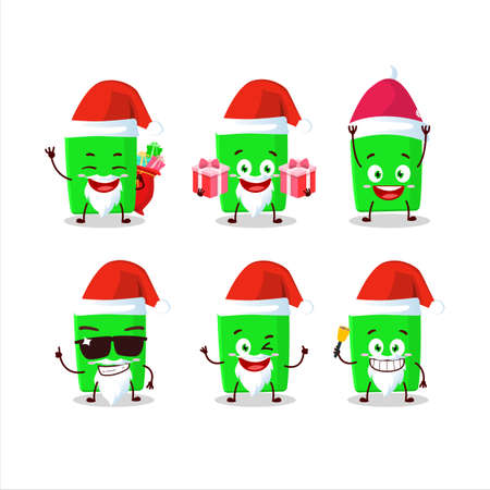 Santa Claus emoticons with new green highlighter cartoon character