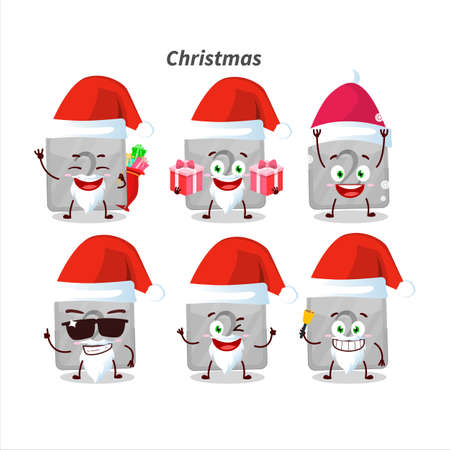 Santa Claus emoticons with silver first button cartoon character
