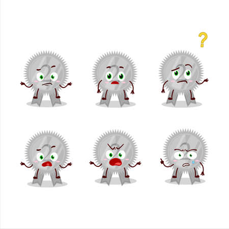 Cartoon character of silver medals ribbon with what expression