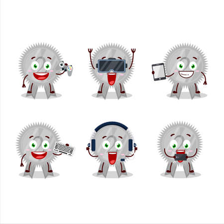 Silver medals ribbon cartoon character are playing games with various cute emoticons
