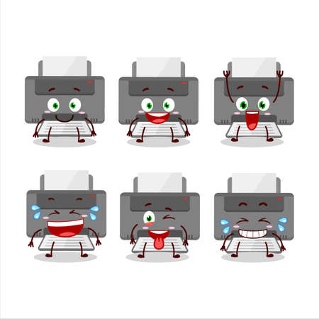 Cartoon character of printer with smile expression