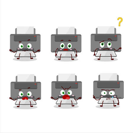 Cartoon character of printer with what expression
