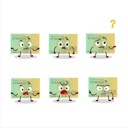 Cartoon character of stimulsus check with what expression