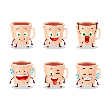 Cartoon character of thanksgiving tea with smile expression