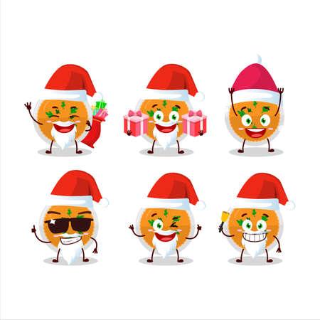 Santa Claus emoticons with mashed orange potatoes cartoon character