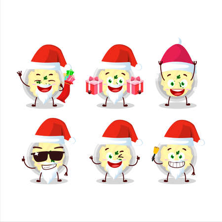 Santa Claus emoticons with mashed potatoes cartoon character