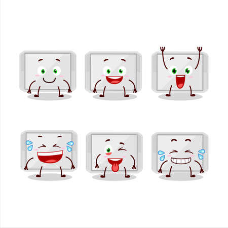 Cartoon character of silver plastic tray with smile expression 向量圖像