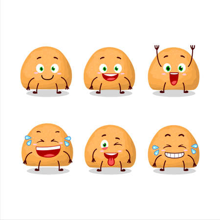 Cartoon character of sweet cookies with smile expression 向量圖像