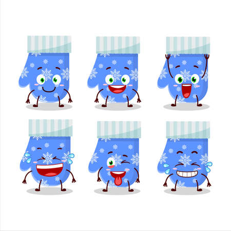 Cartoon character of blue gloves with smile expression 向量圖像