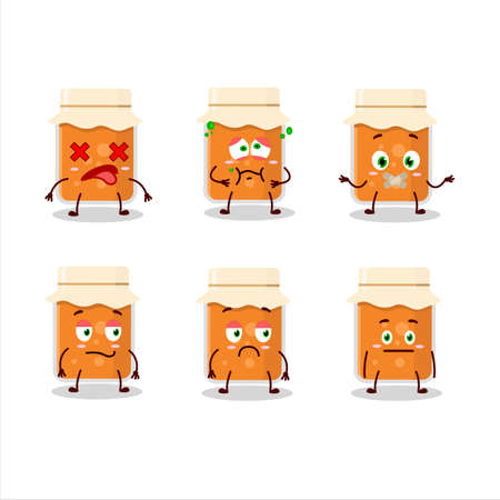 Apricot jam cartoon character with nope expression