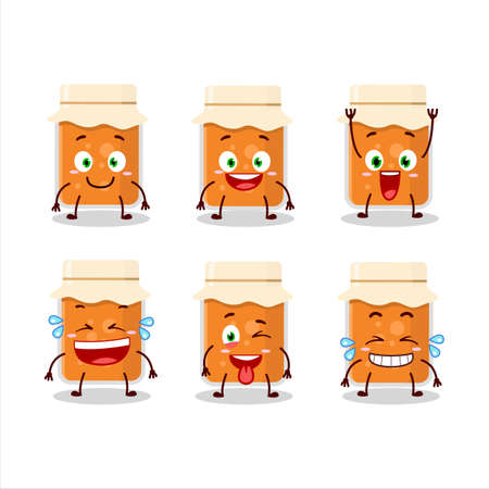 Cartoon character of apricot jam with smile expression