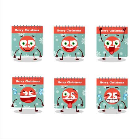 Cartoon character of 25th december calendar with smile expression Illustration