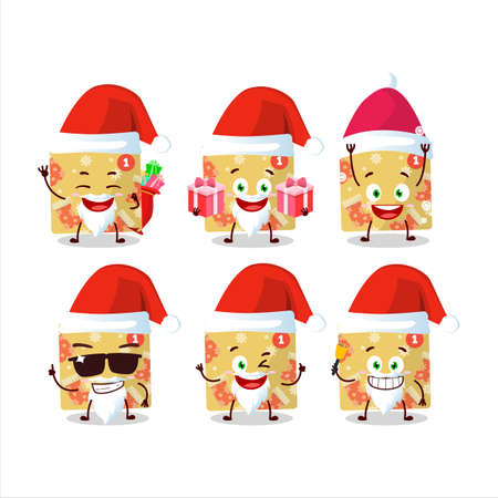 Santa Claus emoticons with 1st december calendar cartoon character