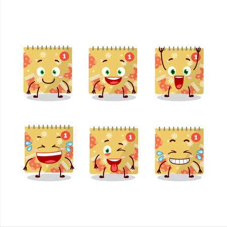 Cartoon character of 1st december calendar with smile expression