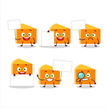 Pumpkin cake cartoon character bring information board