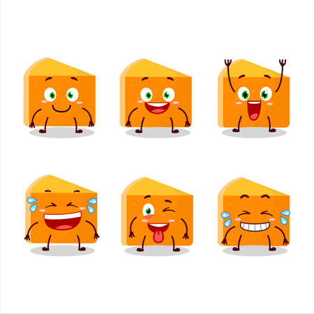Cartoon character of pumpkin cake with smile expression