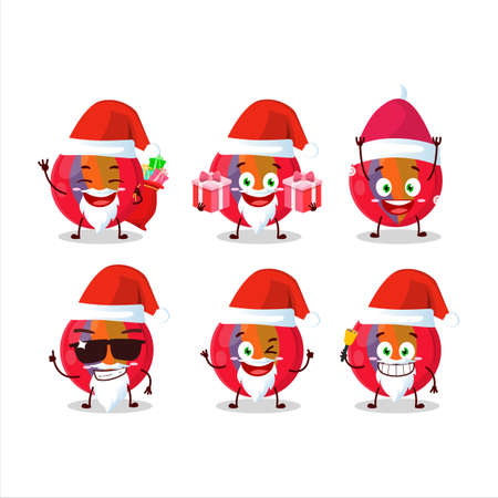 Santa Claus emoticons with red marbles cartoon character 免版税图像 - 157520622