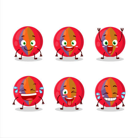 Cartoon character of red marbles with smile expression