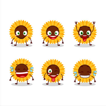 Cartoon character of sunflower with smile expression Zdjęcie Seryjne - 157582464