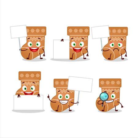 Socks cookie cartoon character bring information board