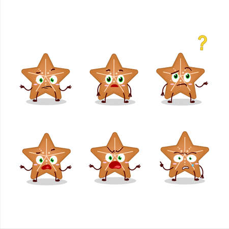 Cartoon character of stars cookie with what expression