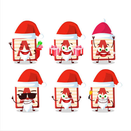 Santa Claus emoticons with toy block A cartoon character