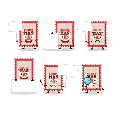 Christmas ticket cartoon character bring information board