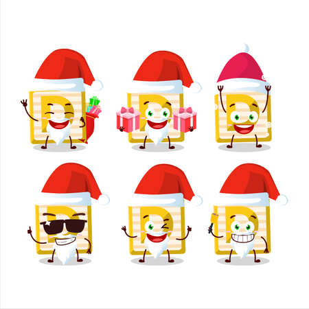 Santa Claus emoticons with toy block D cartoon character