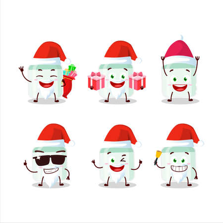 Santa Claus emoticons with white baby milk bottle cartoon character 矢量图像